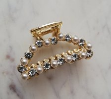 Hair Clip gold-colored-natural white