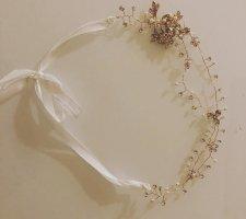 Bandeau cheveux doré-blanc