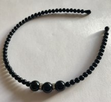 0039 Italy Hair Circlet silver-colored-black