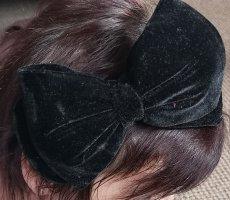 Haarreif aus Samt mit großer Schleife von Zara