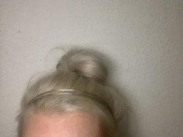 Opaska na włosy srebrny