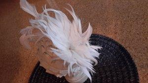 Serre-tête blanc tissu mixte