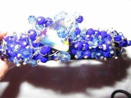 Serre-tête bleu-bleu fluo