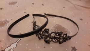 keine Ahnung Hair Circlet black-silver-colored
