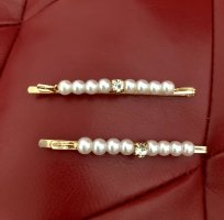 Hair Clip gold-colored-white