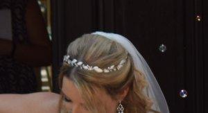 Headdress silver-colored