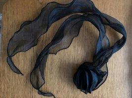 Nastro per capelli nero Tessuto misto