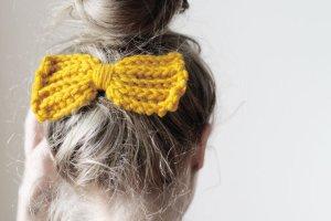 Klamra do włosów jasny pomarańczowy-żółty Poliakryl