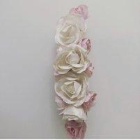 Haarspange Haarstecker Haarschmuck Blumen Blüten weiß rosa Gold Hochzeit Brautschmuck Brautfrisur
