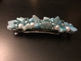 Haarspange mit Blauen Steinchen