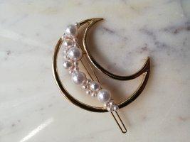 Haarspange Mond mit Perlen