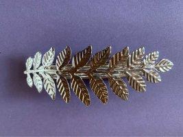 Haarspange Silber Blätter leaf