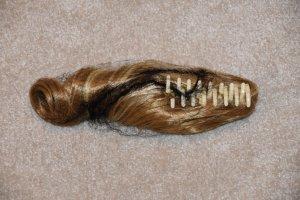 Bijoux pour la tête beige clair soie
