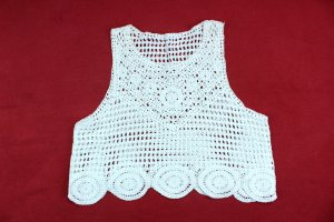 keine Marke Crochet Top white cotton