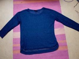 Benetton Pull en crochet bleu foncé
