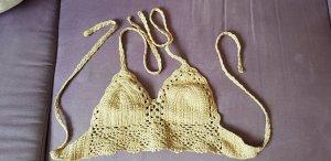 Crochet Top oatmeal-beige