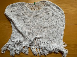 Benetton Knitted Poncho white
