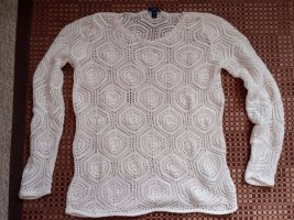 Tom Tailor Crochet Sweater natural white