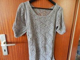 Crochet Shirt silver-colored