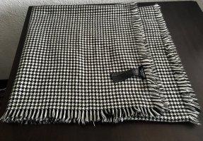 Zara Bufanda de flecos negro-blanco tejido mezclado