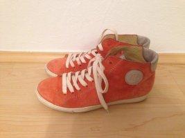 Paul Green Lace-Up Sneaker dark orange-neon orange leather