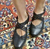 Think! Chaussures Mary Jane bleu foncé cuir