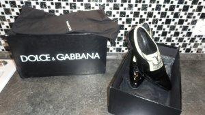 Dolce & Gabbana Chaussures à lacets noir-blanc cassé cuir