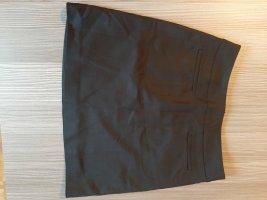 Hallhuber Falda de talle alto negro