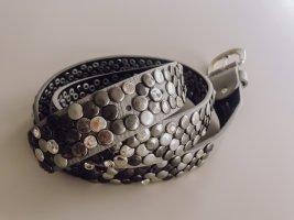 Hallhuber Cinturón de pinchos color plata-gris