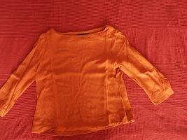 Hallhuber Koszulka z dekoltem w łódkę ciemny pomarańcz Wiskoza