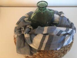 Hallhuber Schal blau weiß gestreift