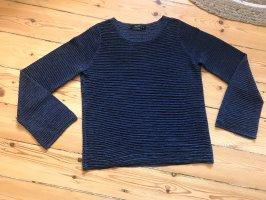 Hallhuber Shirt Pullover Strick blau NEU 34