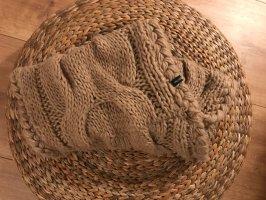 Hallhuber Bufanda de punto marrón claro-camel