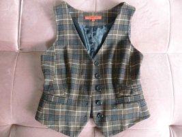 Hallhuber Donna Gilet tricoté noir-brun foncé