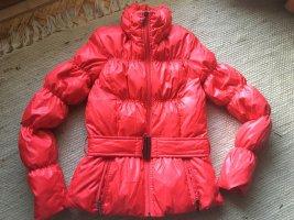 *HALLO WINTER*NEUE hochwertige warme Daunenjacke, KIRSCHROT, Hingucker, WARM, Gr. SMALL