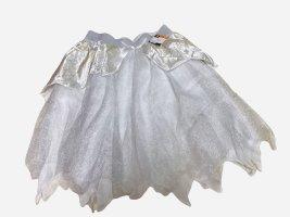 Halloween Damen Tutu Rock Weiß Silber S M L