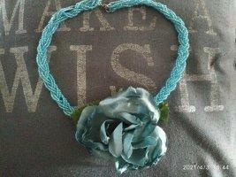 Naszyjnik jasnoniebieski-niebieski neonowy