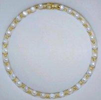 Halskette aus Süßwasserperlen Barock Stil