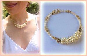 Halskette mit Natursteinen