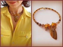 Halskette mit Natursteinen Achat Collier