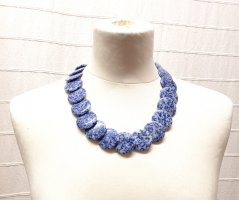 Naszyjnik chabrowy-stalowy niebieski