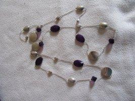 Collana argento-viola scuro