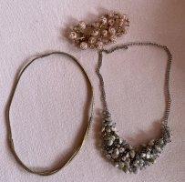 Halsketten Vintage Perlen Gold Steine