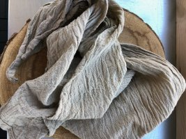 Ohne Neckerchief oatmeal-grey brown cotton