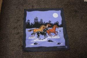 #Halstuch,  #Indianermotiv, #Pferde, #lila-bunt, #Hav-A-Hand, #made in USA