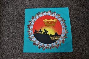 #Halstuch, #Indianermotiv, #Sonnenuntergang, #orange-grün, #Hav-A-Hand, #made in USA