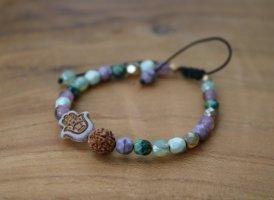 Handgemacht Brazalete de perlas verde grisáceo
