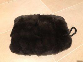 Bufanda de cachemir marrón oscuro