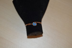 handmade unikat Anello di fidanzamento beige-blu fiordaliso Metallo