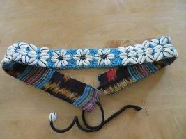 Vintage Hip Belt natural white-neon blue mixture fibre